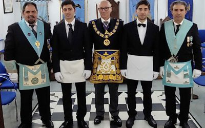 "1st ""Double Lewises"" Initiation of UGLE Freemasonry in Cyprus"