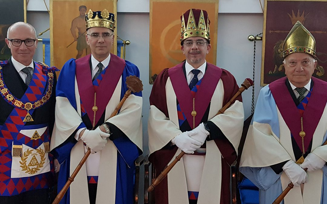 The Grand Superintendent at Installation of St. Paul's Chapter